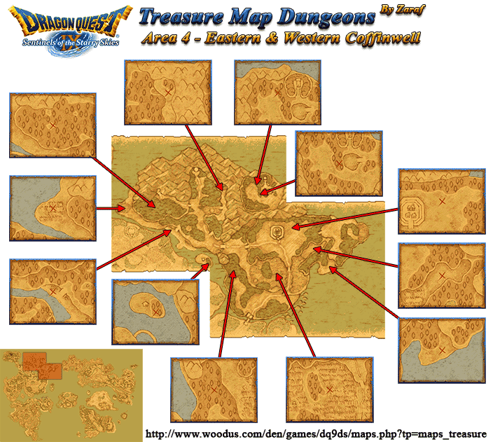 Dragon Quest Ix Sentinels Of The Starry Skies Treasure Maps Pictures