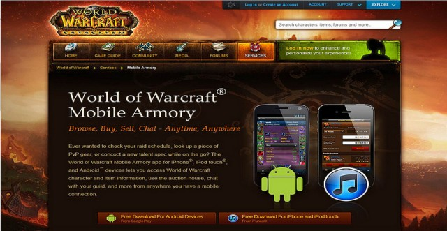 World of Warcraft Armony Mobile App Review