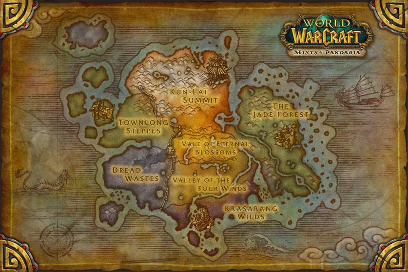 Mists of Pandaria map