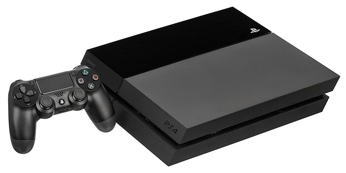 playstation 4 console with game controller
