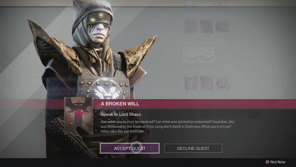 Destiny The Taken King Guide - How to Unlock Sword Quest-Line