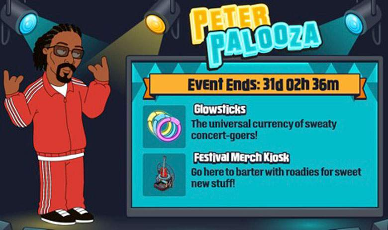 Family Guy The Quest For Stuff PeterPalooza - Log-In Each Week for New Content