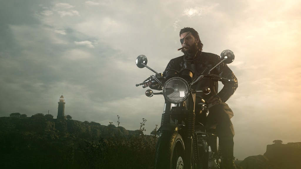 Metal Gear Solid 5 The Phantom Pain showcases Big Boss riding a bike