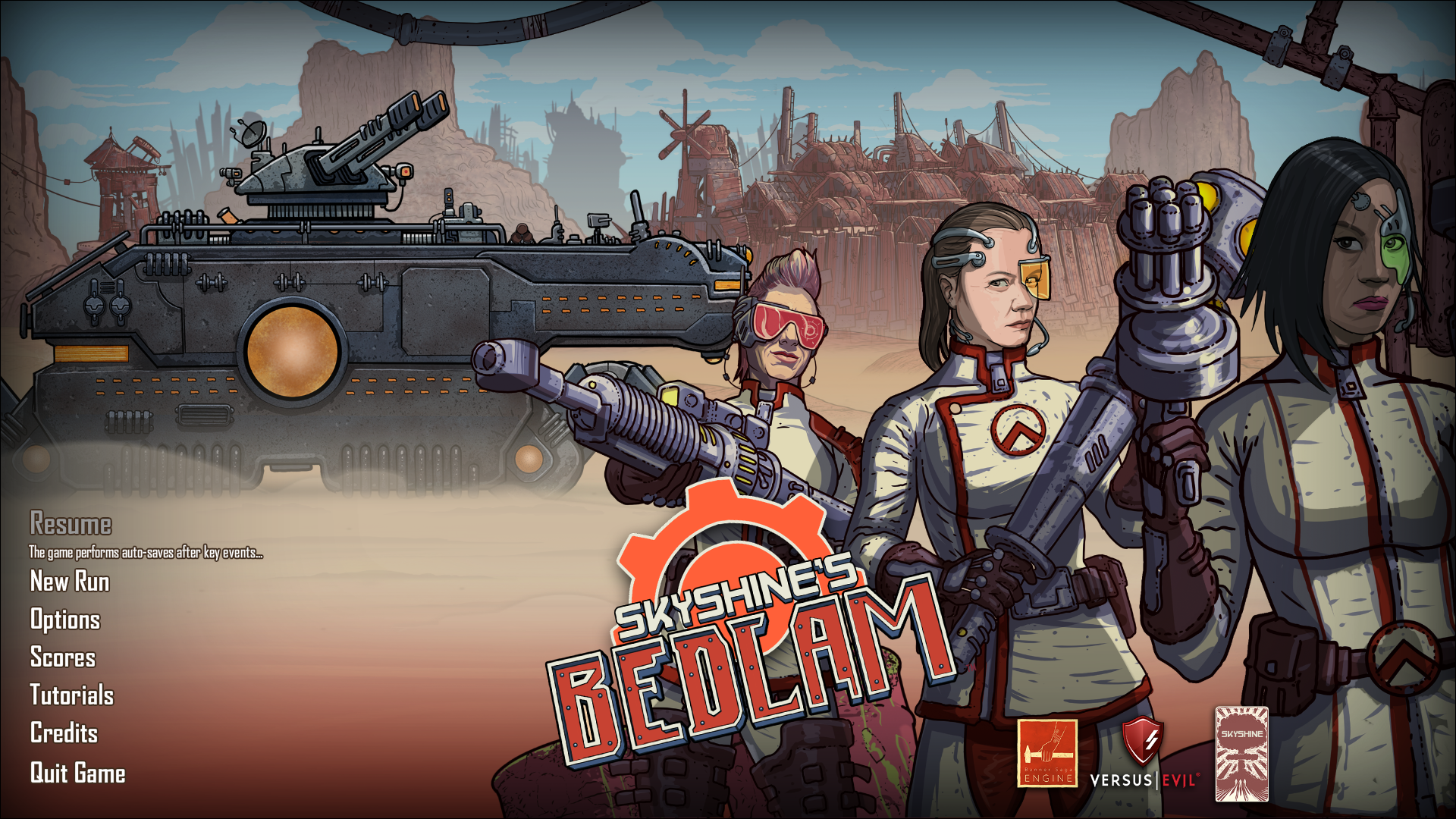 Skyshine's Bedlam Main Menu