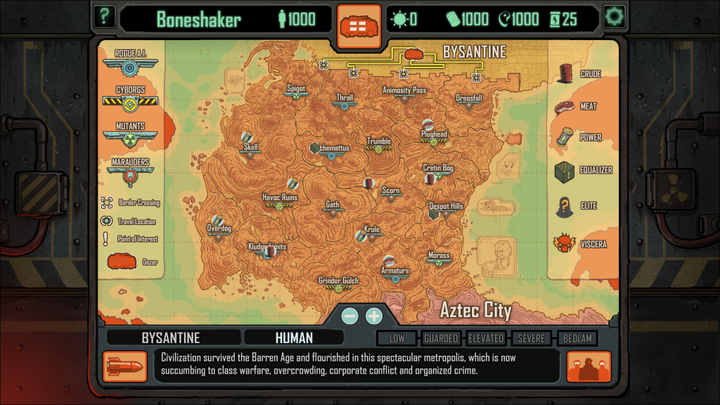 Skyshine's Bedlam map is filled with interest points