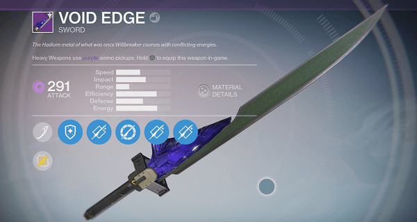 One the options for the coveted Edge Sword