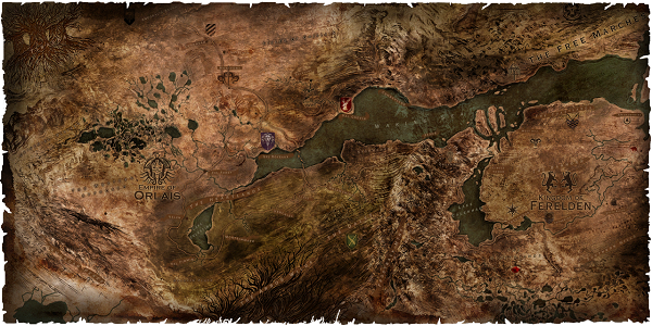 Dragon Age Inquisition Strategy Guide - Dragon Age World Map.