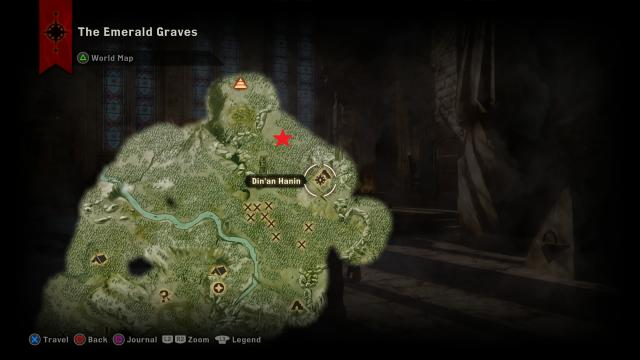 Dragon Age Inquisition Strategy Guide - The Great Mistral Dragon Location.