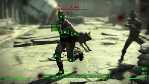 Fallout 4 VATS combat system