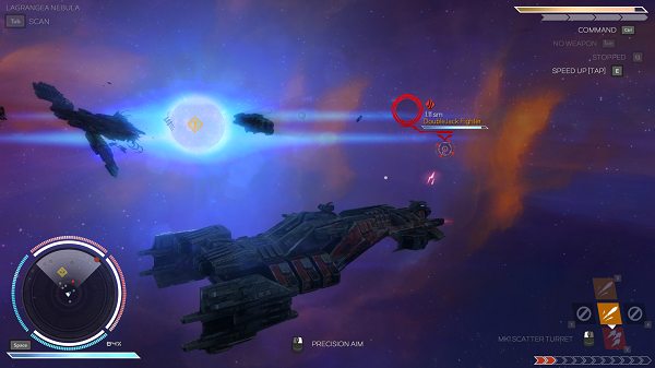 Rebel Galaxy Battle with a Fighter