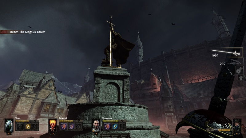 Warhammer End Times Vermintide Statue in the first mission