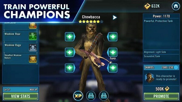Star Wars Galaxy of Heroes - Be careful who you train