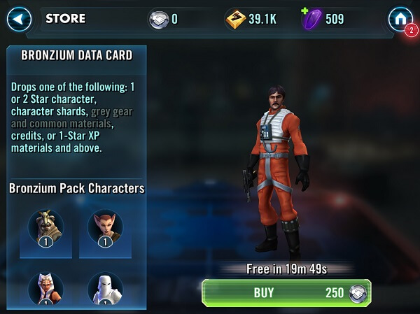 Star Wars Galaxy of Heroes - Items aren't really that hard to find