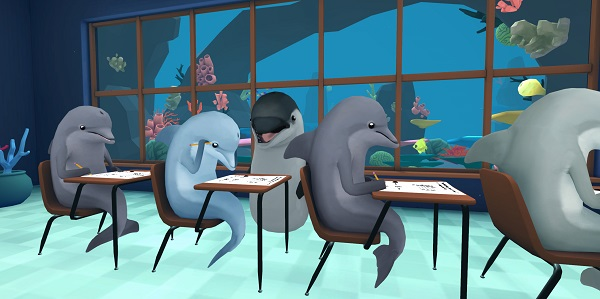 Virtual Reality Games for Oculus Rift - Classroom Aquatic