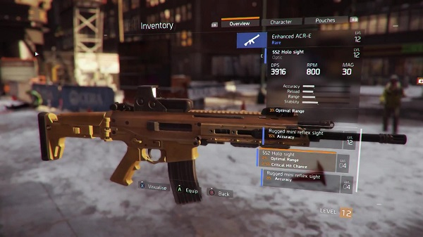 The Division Top 10 Things You Need to Know About the Weapon Customization