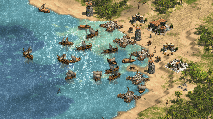 age of empires game screenshot of Phoenician Harbour