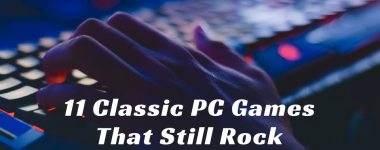 classic pc games: person playing on a pc